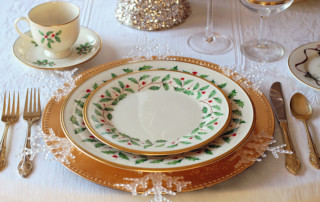 Christmas elegant dinner set and Mindful Eating